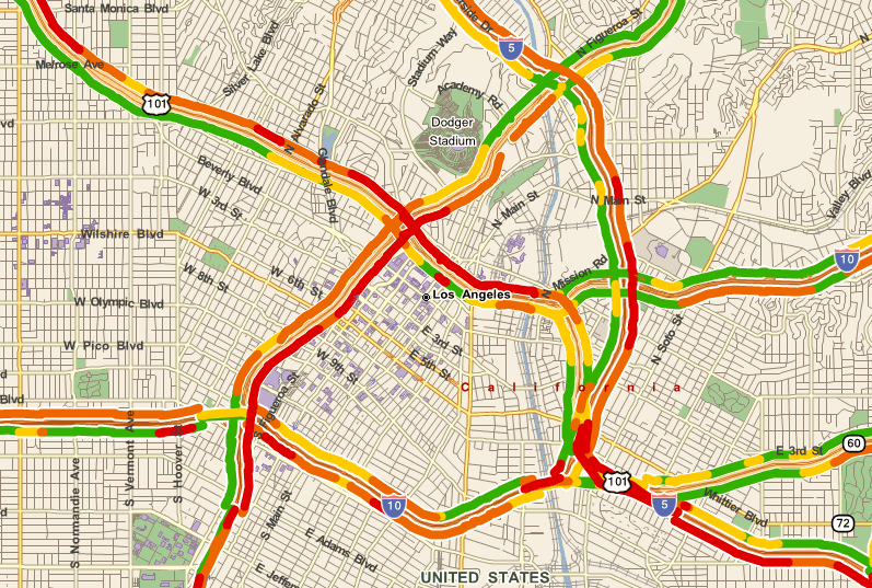 Real Time Traffic Map Traffic